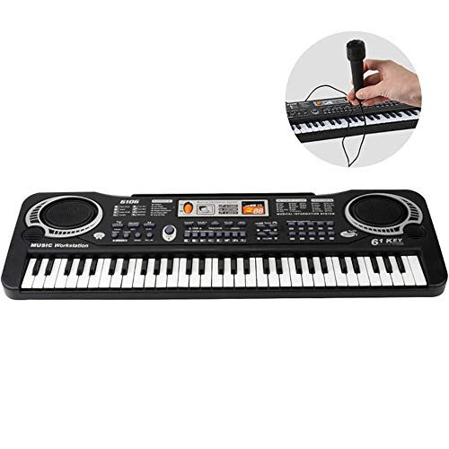 61-Key Digital Piano met microfoon Multi-Function Muzikale Instrumen Music Elektronisch Toetsenbord Kids Gift