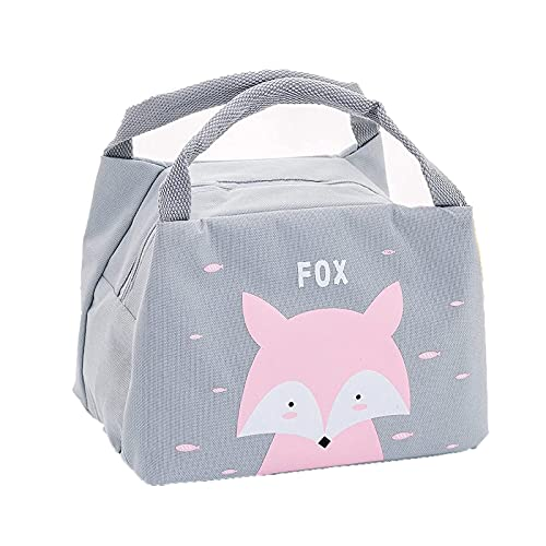 Bolsa de almuerzo reutilizable Patrones lindos Mujeres Lunchbox Bag Portable Oxford Bolsa de almuerzo Aisulado térmico Caja de almuerzo Comida Picnic Bolsas de almuerzo Bolsas de almuerzo para la escu
