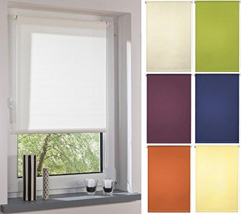 Garduna FIX Tageslicht-Rollo # Weiss 60cm # Smartfix - Klemmfix - ohne Bohren - viele Farben & Größen- lichtdurchlässig/Sichtschutz