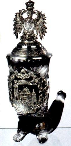Cristal aristado Jarra de cerveza Cuerno Rothenburg Burg