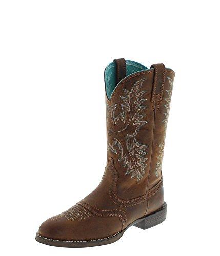 Ariat Damen Cowboy Stiefel 23178 Heritage Stockman Westernreitstiefel Lederstiefel Braun 37.5 EU