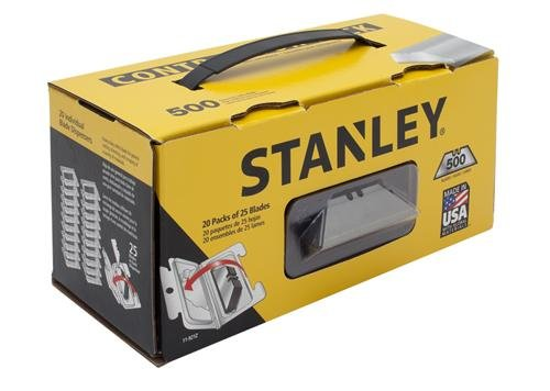 STANLEY Utility Knife Blades, Classic 1992, Heavy Duty, 500-Pack (11-921Z)