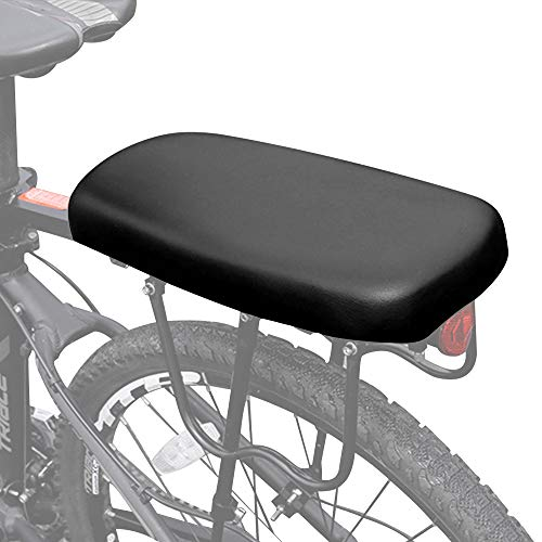 RMENOOR Bicycle Rear Seat Cushion,Safety Kids Bicycle Rear Seat Universal Thicker Seat Rear Seat Mountain Bike Rear Seat Bike Parts Accessories Seats Easy to Install and Clean for Bicycle MTB (Black)