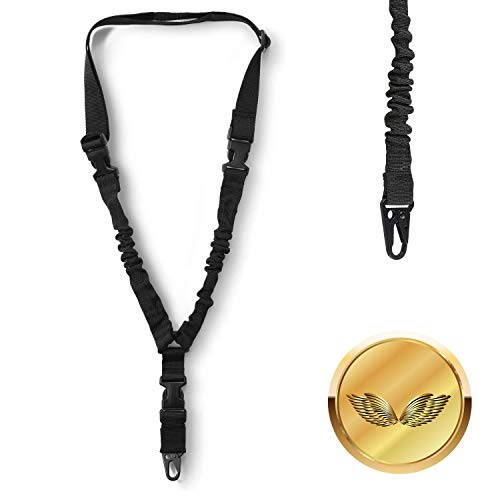 CKE Single Point Sling Adjustable Multi-Function Rope Safety Rope Single Point Sling with Adjustable Strap Mountaineering Rope, Mountaineering Rope Strap with Metal Hook for Outdoors