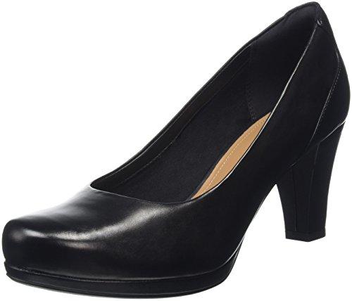 Clarks Chorus Chic, Zapatos de Tacón Mujer, Negro (Black Leather), 37.5 EU