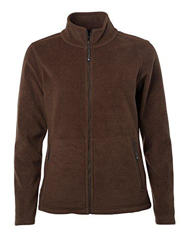 James & Nicholson Damen Fleece Jacke, Braun (Brown), 44 (Herstellergröße: 3XL)