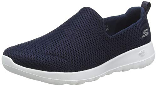 Skechers womens Go Joy Walking Shoe, Navy/White, 8 US