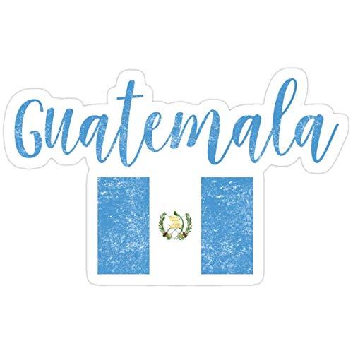 DKISEE Pegatinas de vinilo con diseño de la bandera de Guatemala (3 piezas/paquete) para mochila de 4 pulgadas