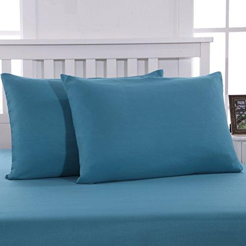 Mohap Lot de 2- Taies d'oreiller 50x70cm Lac Bleu Housse d'oreiller avec Une Fermeture éclair en Microfibre