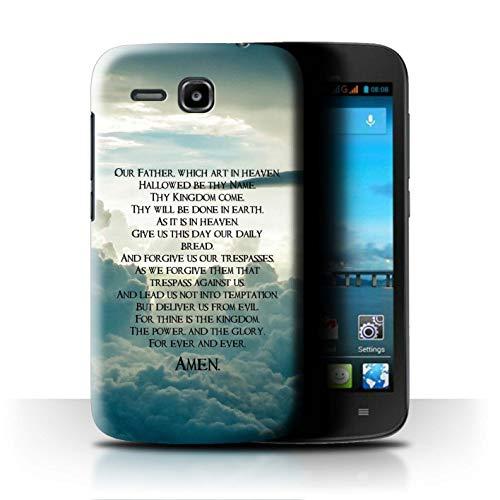 Hülle Für Huawei Ascend Y600 Christliche Bibel Vers The Lord's Prayer Design Transparent Ultra Dünn Klar Hart Schutz Handyhülle Case