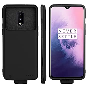 Battery Case for OnePlus 6T / OnePlus 7 Rechargeable Extended Backup Battery Charger Case for Oneplus 6T/OnePlus 7 Portable External Power Bank Battery Charging Case 5000mAh Black