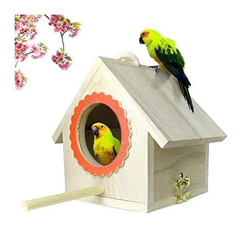 Pájaro Nido Fuera De La Casa De Aves De Madera DIY Birdhouses Crafting Creando Caja De Aves Jardín Decoración para El Hogar (Color : Natural)