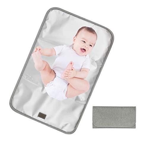Tragbar Wickelunterlage, Wasserdicht Wickelunterlage Faltbar Windelmatte für Babys und Kleinkinder, Waschbar Windelmatte für Unterwegs Home Reisen Außerhalb
