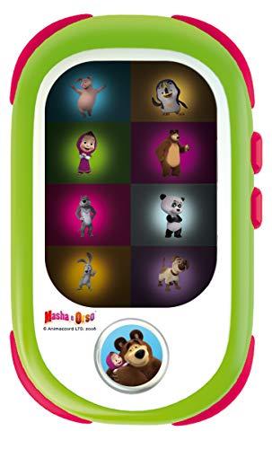 Lisciani Giochi- Masha Baby Smartphone LED Gioco Educativo Elettronico, Multicolore, 85507