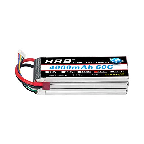 HRB 18.5V 4000mAh 5S LiPo Battery 60C LiPo Battery Pack with Deans Plug for Mikado LOGO500 Align T-REX550 600 GAUI X5 Outrage 550 Hirobo SDX
