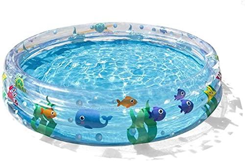 LBWARMB Piscinas hinchables 60'Piscina Infantil para niños, diversión de Verano Transparente Piscina para niños Piscina de Agua Piscina para bebé Piscina de Bola de Bola para Mayores de 3 años