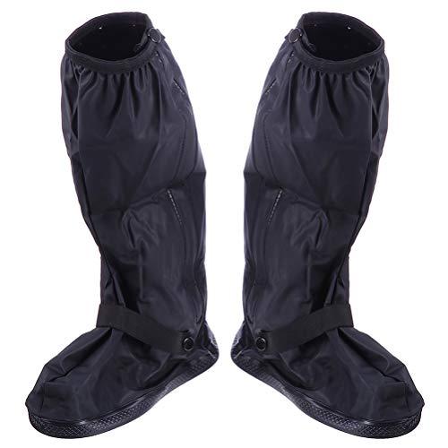 Happyyami Botas de Lluvia Cubiertas Impermeables de Tubo Alto Fundas de Zapatos Impermeables con Cremallera Antideslizante para Deportes Al Aire Libre Senderismo Escalada Camping (M)