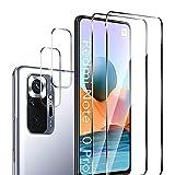 MAXKU 4 Stück Schutzfolie Kompatibel mit Xiaomi Redmi Note 10 Pro/Note 10 Pro Max Panzerglasfolie, 2 Stück Schutzfolie & 2 Stück Kamera Bildschirmschutzfolie, 9H Festigkeit, HD Klar Glas Bildschirmschutz