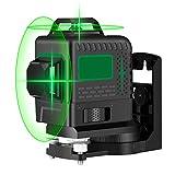 Nivel láser, Careslong Mini Lo suficientemente pequeño como para sostenerlo en la mano,12 verde tiras con línea de nivelación automática IP54 a prueba de agua y alineación de menos de 5nw
