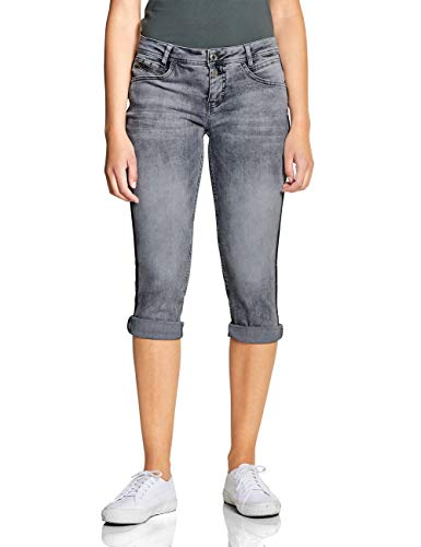 Street One Damen 372238 Jane Jeans, Grau (Grey Acid Washed 11871), W30 (Herstellergröße:30)
