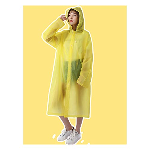 Regenjas Poncho Regenkleding EVA Regenjas Mannen en Vrouwen Verdikt Volwassen Rijden Mode Explosion-Proof Poncho Licht Regenjas stijlnaam size Geel