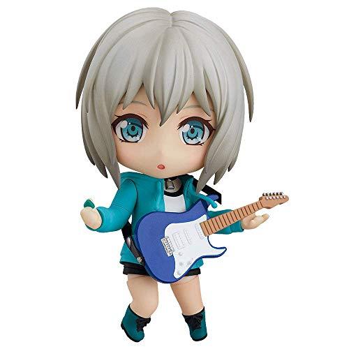 JJRPPFF Q Version Aoba Mokka Figur, 3,9 Zoll BanG Dream Charakter Modell, mehrere Zubehörteile enthalten, Gelenk kann Nendoroid bewegen, PVC Material Anime Girl Figma (für Geschenksammlung)
