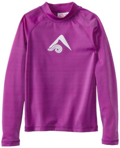 Kanu Surf Girl's Keri UPF 50+ Long Sleeve Rashguard, Purple, X-Small (6)