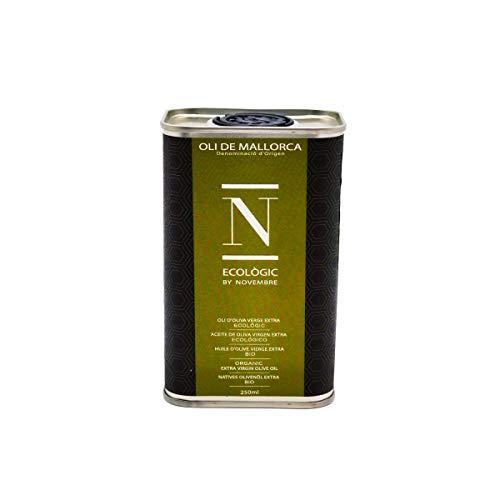 OLI NOVEMBRE - Ecologic Oli de Mallorca Premium Native Bio Olivenöl Extra Virgin ungefiltert aus 100% Arbequina Oliven 250ml