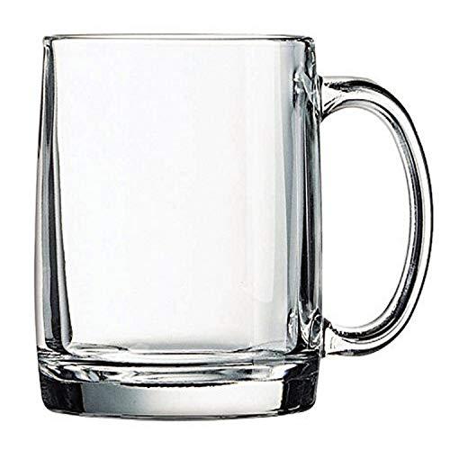 Luminarc Arc International Nordic Mug with Tea Definition (Set of 6), 13 oz, Clear