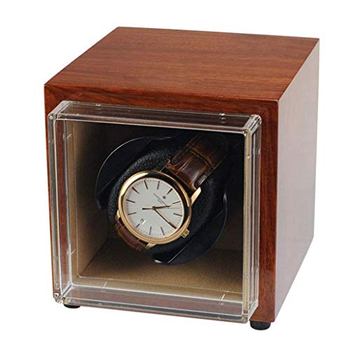 Mini Automatic Watch Winder Box Super Quiet Motor, Battery Powered and AC...