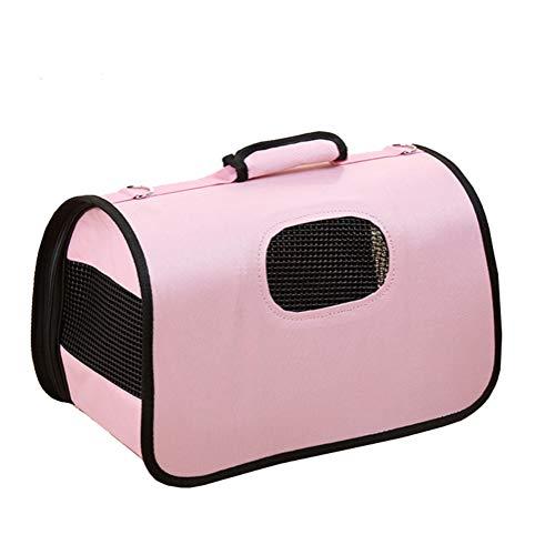 Aida Bz Pet Sac de Sortie Pet Out Sac à Dos Portable boîte à air étui de Transport Sac à Main Chien Chat Valise Animal de Compagnie à Main,Pink