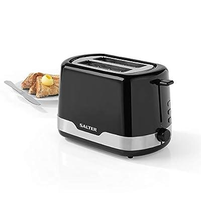 Salter EK3467BLK Deco 2-Slice Toaster with Warming Rack,