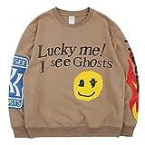NAGRI Kanye Lucky me I See Ghosts Sweatshirt Sudaderas sin Capucha