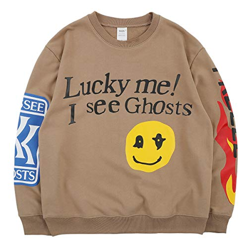 Lucky me I See Ghosts Sweatshirt,Khaki,L