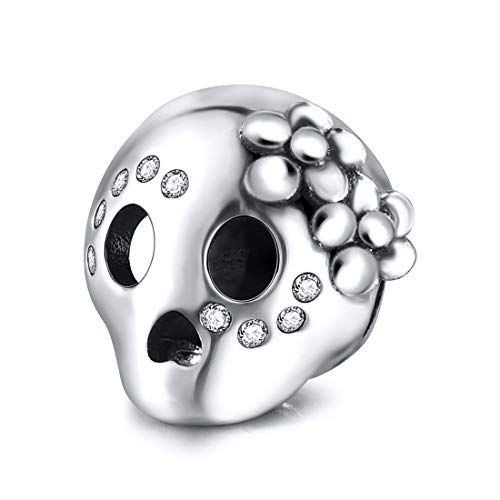 Jiayiqi, charm Shantou in argento Sterling 925 per braccialetti Pandora da donna