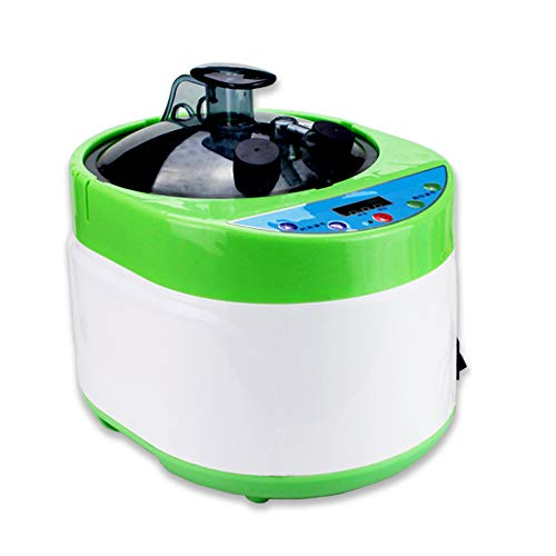 ZONEMEL Sauna Steamer Portable Pot 4 Liters, Stainless Steel Steam Generator with Remote Control, Spa Machine with Timer Display Mist Moisturizing for Body Detox (Green)