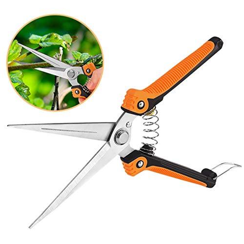 Preisvergleich Produktbild Gartenschere Gerade Klinge,  Hochleistungs-Edelstahlscharfe Universalschere für Garten und Garten,  Obst & Gemüse,  Schwarz-Orange