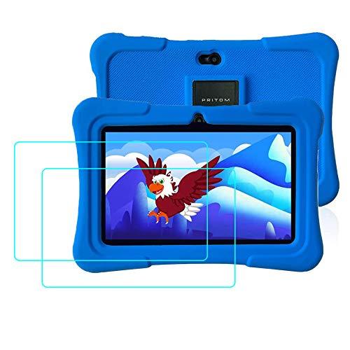 YGoal Panzerglas für Pritom 7 Zoll Kids Tablet, (2 Stück) 9H Härte Anti-Kratzen Blasenfrei Schutzglas Displayschutzfolie für Pritom 7 Zoll Kids Tablet