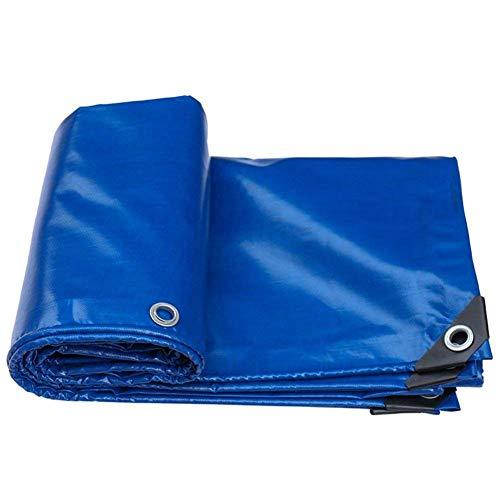 ANHPI-tarpaulin Bâches De Protection Protection Solaire en PVC AntistatiqueÉtanche à La Poussière Résistant à La Corrosion Anti-oxydation -550g / M²,Épaisseur 0.45mm,9 Tailles en Option,Blue-3x4M