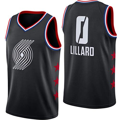 POBD Damian Lillard 0 Portland Trail Blazers Basketball Jersey, Sneldrogende mesh Sport Jersey Heren Sportkleding Sweat Wicking