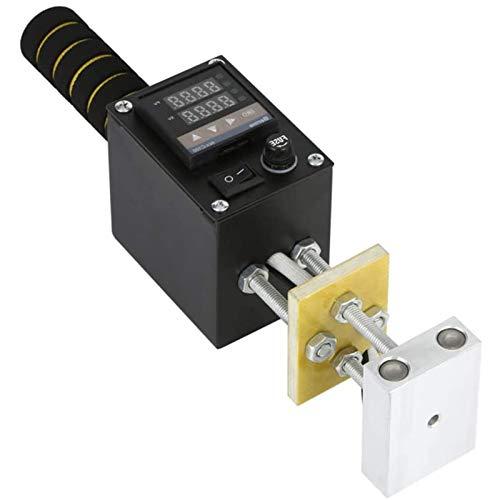 ホットフォイルスタンピングマシン10×13cmブロンズマシン110V / 220Vポータブルレザーエンボス加工機PVCレザーPUロゴ作成用