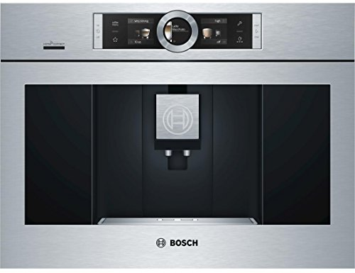 """Bosch BCM8450UC 24"""" UL Listed Built-In Coffee Machine with Adjustable Cup Sizes, Home Connect, Child-Proof Lock, and Milk Container in Stainless Steel"""