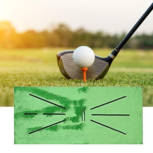 HEITIGN Golf-Trainingsmatte, 30X60cm Swing Detection-Schlagmatte, Übungsschlagmatte Minigolf-Trainingsmatte Große Golf-Trainingshilfe für Den Einsatz im Home Office im Freien