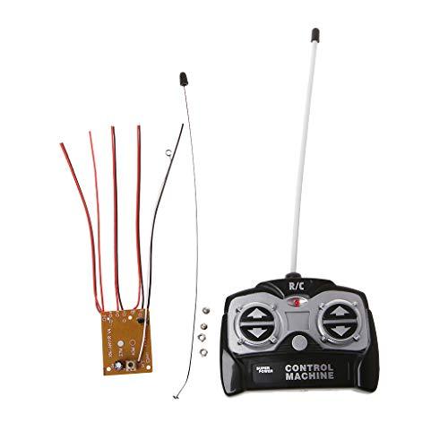 siwetg 5CH 27 MHz mando a distancia unidad de receptor + mando a distancia para tanques coche juguetes Radio sistema para motor 130 6 V 5 V