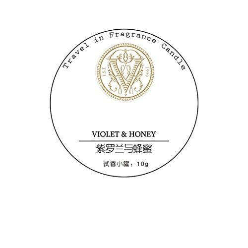 ZHSB ZXYBougies d'aromathérapie, échantillon de Parfum rempli à la Main Test à la Maison Parfum Voyage Huile Essentielle Petite Bougie