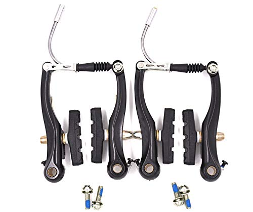 Bike Brakes Mountain Bike V Brakes Set Replacement Fit for Most Bicycle, Road Bike, MTB, BMX (Aluminum Alloy, 1 Pair)