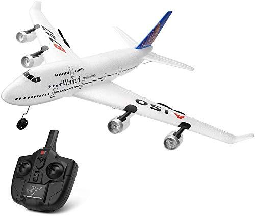 BHJH7 Avión de Control Remoto Planeador de Control Remoto 2.4GHz Radio RC Glider Plane Gyro System para Adultos/niños/Principiantes Stunt Flying Flight Jets Bonito Regalo para Amigos/Fans de jug
