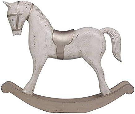 Cavallo A Dondolo Legno Natalizio.Amazon It Cavallo Dondolo Legno Decorazioni Per Interni
