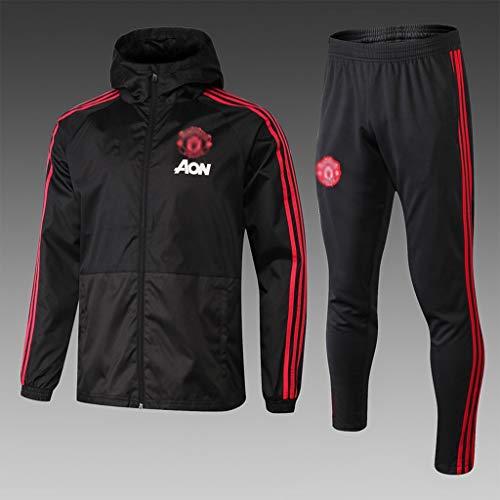 Big25cm Utility-Player! Europäischer Fußball-Verein T-Shirt Sportfußballtraining Uniform Sweatshirt Windjacke (Multiple-Choice) (Color : Red, Size : M)