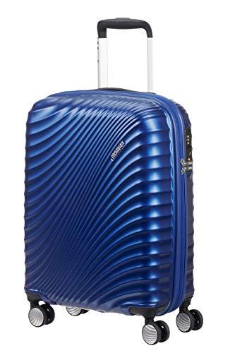 American Tourister Jetglam Spinner S Bagaglio a Mano, 55 cm, 35.5 litri, Blu (Metallic Blue)